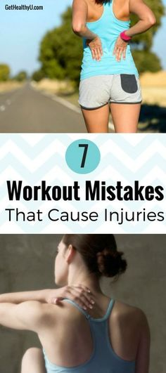Read these 7 mistakes to make sure you are not causing unnecessary injuries and soreness! #workout
