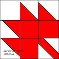 Maple Leaf Quilt Block Pattern   ... Download the pattern and enlarge or reduce the size to fit your needs