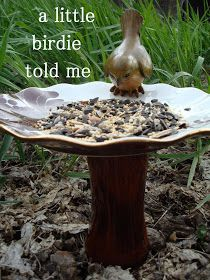 very heatherly cheap tricks for chic chicks: 1 box of broken dishes, 3 crafts....