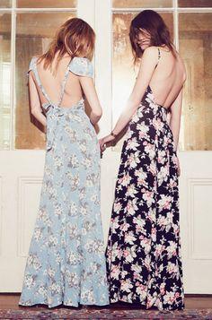 Floral maxi dresses.