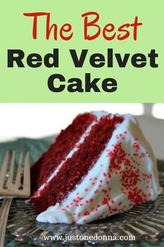This red velvet cake is perfect for holidays or any day of the year This recipe is sure to become a family favorite redvelvetcake ChristmasCake valentinesdaycake patrioticcake Homemade Desserts, Dessert Recipes, Cake Recipes, Drink Recipes, Yummy Recipes, Delicious Desserts, Yummy Food, Healthy Recipes, Homade Cake Recipe