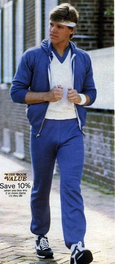 1980s mens active wear