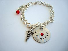 Personalized Medical ID Bracelet Coumadin by CrookedCrystal @crookedcrystal