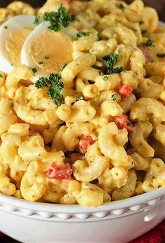 Amish Macaroni Salad Image Amish Macaroni Salad, Macaroni Recipes, Casserole Recipes, Macaroni Salads, Antipasto Pasta Salads, Pasta Salad Recipes, Potato Salad Recipe Miracle Whip, Amish Recipes, Cooking Recipes