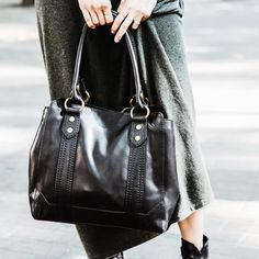 Loving the smooth leather on the new Melissa Tote | The Frye Company