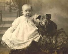 *Baby and Dog...Libby Hall Collection