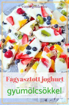 Fogyókúrás ételek és italok - Fagyasztott joghurt szeletek gyümölccsel