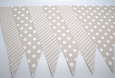Gray Party Pennants  Qty 10  Party Pennant by LouTinenEvents, $3.95
