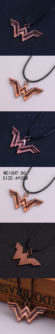 High Quality Super Hero Wonder Woman Charm Necklace Pendant for Women Jewelry