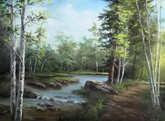 landscape oil painting with Kevin Hill. Learn techniques that can improve oil, acrylic and even watercolor paintings. Oil Painting Pictures, Painting Videos, Painting Lessons, Painting Techniques, Landscape Art, Landscape Paintings, Watercolor Paintings, Oil Paintings, Landscapes