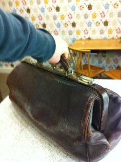 vintage leather doctors bag