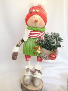 Купить Снеговик 2017 (3) - ярко-красный, подарок новый год 2017, подарок, новый год 2017