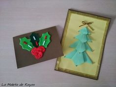 diy dos opciones de crear postales navideas