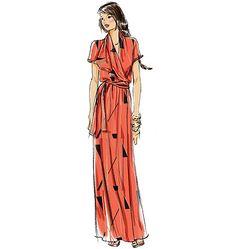 V8827   Misses' Dress And Belt   View All   Vogue Patterns (Sz 6-14).