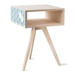 Turquoise Hexa Bedside Table Hexagon Pattern, Creature Comforts, Table Legs, Bedside, Sale Items, Stool, Turquoise, Design, Home Decor