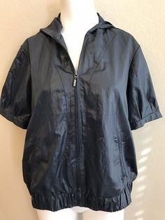 c2d4d3d391de1 Chico s Zenergy Jacket Ladies Size 1 Hoodie Navy Blue Fashionable  Windbreaker  Chicos  WindbreakerHoodie Hoodie