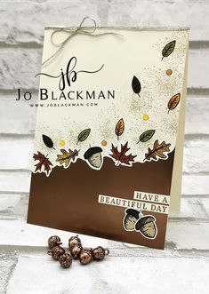 Thanksgiving Cards, Holiday Cards, Stampin Up Karten, Greeting Cards Handmade, Handmade Fall Cards, Stampinup, D 20, Fall Projects, Stamping Up Cards