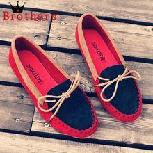 2015 nueva primavera zapatos del barco talón plano punta redonda Gommini Loafers dulce Flat Four Seasons boca baja zapatos de mujer 3 colores(China (Mainland))