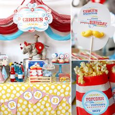Already did a small circus theme for their first birthday but I love this. Maybe in a few more years.