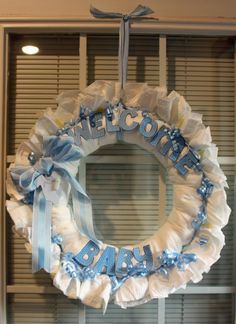 Practical Scrappers: Make a Diaper Wreath