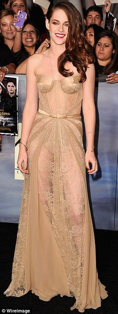 you're only young once - Kristen Stewart slipped into a very racy outfit for the world premiere of The Twilight Saga: Breaking Dawn - Part 2 in Los Angeles on Monday night