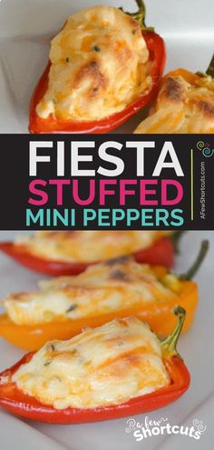Fiesta Stuffed Mini Peppers Recipe – A Few Shortcuts A popular recipe for a tasty reason! This simple Fiesta Stuffed Mini Peppers Recipe is an amazing appetizer. Keto friendly and delicious! Best Appetizers, Appetizer Recipes, Italian Appetizers, Simple Appetizers, Delicious Appetizers, Vegetarian Appetizers, Sandwich Recipes, Vegetarian Recipes, Mini Paprika