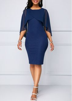 60c1372e49e0 34 Best Cape sleeve dress images | Dress patterns, Block dress ...
