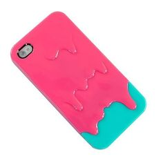 Pink 3d Melt Ice cream Skin Hard Case Cover for Apple Iphone 4 and 4s Protect Cell by Top-store $1.95