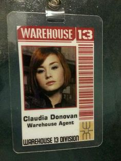 Warehouse 13 ID Badge Warehouse Agent Claudia Donovan | eBay