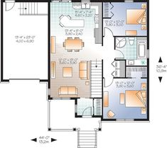 house plan 034 01056 country plan 1028 square feet 2 bedrooms 1 bathroom