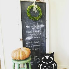 Chalkboard from a vintage window:  D.D.'s Cottage and Design