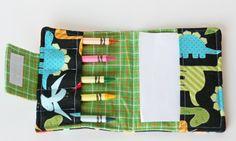 Mini Crayon Holder using Ann Kelle Fabric.