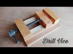 Making A Drill Press Vice || How To Make Wooden Vice - YouTube