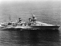 USS Indianapolis underway, circa 1930s. About her tragic end, read this: http://en.wikipedia.org/wiki/USS_Indianapolis_(CA-35)