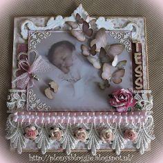 Baby Girl Cards, New Baby Cards, Baby Scrapbook, Scrapbook Pages, Handmade Card Making, Handmade Cards, Baby Mine, Heartfelt Creations, Baby Bottles