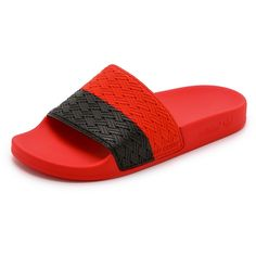 74c4cf3fc Adidas by Raf Simons Two Tone Adilette Slides ( 58) ❤ liked on Polyvore  featuring shoes