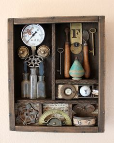 Rusty Bits  Found Objects Assemblage by doreycardinale on Etsy