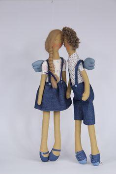Aniołki od RoseCraft, para Sew beautiful angels Angels, Sewing, Beautiful, Dressmaking, Couture, Angel, Stitching, Sew, Costura