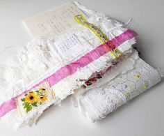 thoughts on embroidery and tradition, cloth, stitch, hand worked embellishment using new and vintage cloth for embroidery. Paper Design, Book Design, Fashion Sewing, Hand Stitching, Home Crafts, Paper Art, Needlework, Embellishments, Quilts