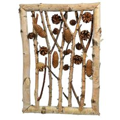 Twig Crafts, Acorn Crafts, Pine Cone Crafts, Driftwood Crafts, Nature Crafts, Nature Decor, Arts And Crafts, Driftwood Mobile, Birch Tree Decor