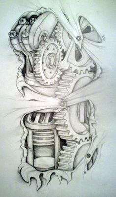 biomechanical tatt idea by ~MirandaAmber
