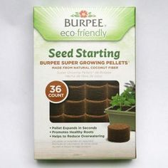 The Pellet Refill can be used with most Burpee seed starting kits. The pellets are a renewable resource derived from coconut fiber. The soil alternative holds the right amount of moisture while providing aeration for strong root growth. Burpee Seeds, Seed Starting, Burpees, Pallet, Healthy, Garden, Products, Shed Base, Planting Seeds