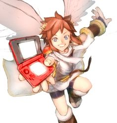 """OMG, he is basically giving it to my 12-year-old self and saying, """"Hey, wanna join us?"""" This game is the reason I REALLY got into gaming. Pokemon started it, but Kid Icarus: Uprising got me to look beyond and see all the great games out there. This game is actually the reason I became a true Zelda fan, I re-tried Twilight Princess even though I had always told myself, as a 6-year-old, I was bad at it. And now Zelda is my favorite game series. But I'll never forget who brought me here: Pit."""