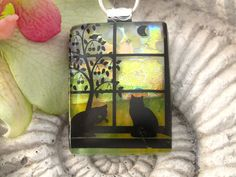 Fused Dichroic Glass Pendant Dichroic Fused Glass by ccvalenzo, $28.00