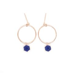 View our unique & luxury Front Facing Hoop Lapis Lazuli Gemstone Earrings a perfect gift for a friend or yourself. Visit Oneiro Jewelry and shop today! Dainty Earrings, Unique Earrings, Gemstone Earrings, Earrings Handmade, Jewelry Accessories, Jewelry Design, Lapis Lazuli, Wedding Jewelry, Jewelry Collection