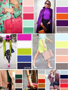 Farbkombis colour combinations fashion, color combinations for clothes, col Colour Combinations Fashion, Color Combinations For Clothes, Color Blocking Outfits, Fashion Colours, Colorful Fashion, Colour Schemes, Color Trends, Color Combos, Wardrobe Color Guide
