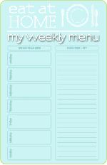 Eat at Home, Everyday Food for Busy People: Quick, easy recipes, over 2 year's worth of Free Menus + Complete Grocery Lists, and a Free Printable Menu Planner with space to list meals for each day on one side and a grocery list on the other. Just downloaded four months of menus, grocery lists and recipes in 15 minutes.