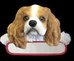 King Charles Cavalier Ornament   http://pricecutterstore.com/106_orn218-18-jpg/king-charles-cavalier-ornament.html# #King Charles Cavalier #Ornament      Cheapest price is $8.25 from Amazon!    Lovable King Charles Cavalier Puppy Dog Christmas Ornament - Personalized New Breed.    Santa's little Pals.    This Lovable King Charles Cavalier Puppy Dog is celebrating the holidays with a Christmas wish and is ready to decorate your tree.