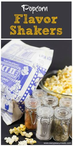 Shake some fun into your family movie night with these Popcorn Flavor Shakers. Popcorn salts with sweet, spicy, and cheesy options! #popintosams #ad - Eazy Peazy Mealz