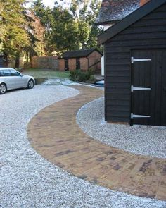 driveway! house exterior designs with curvy path to feng shui homes